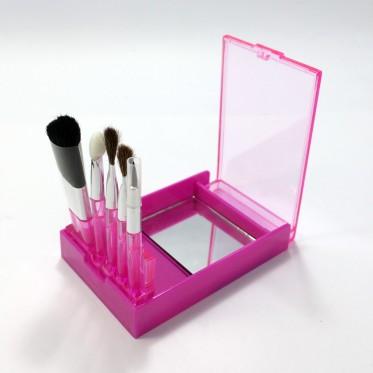 Travel set cosmetic brushes