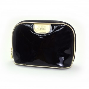 Shiny PVC pouch with pearl colour finishing