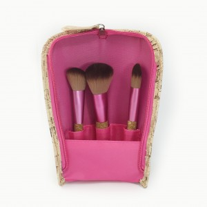 Cosmetic Brush set with cork handle & cork packaging