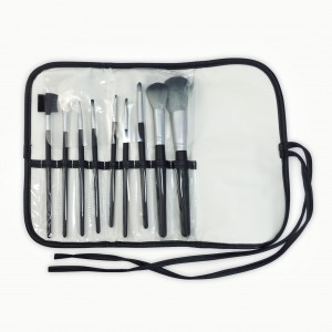 9-pieces of make up brush set