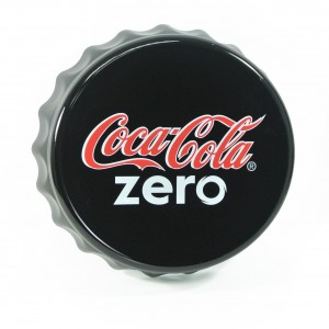 Stylish bottle cap wall mount sign (black)