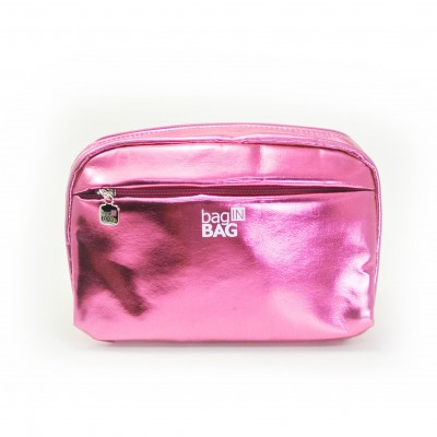Material : Metallic shiny PU cosmetic pouch
