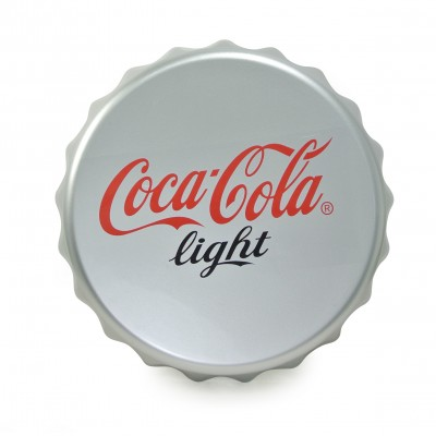 Stylish bottle cap wall mount sign (silver)