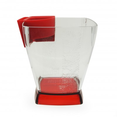 Ice bucket with embossed pattern & hanging tray